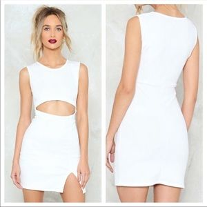 White Nasty Gal Dress NWT